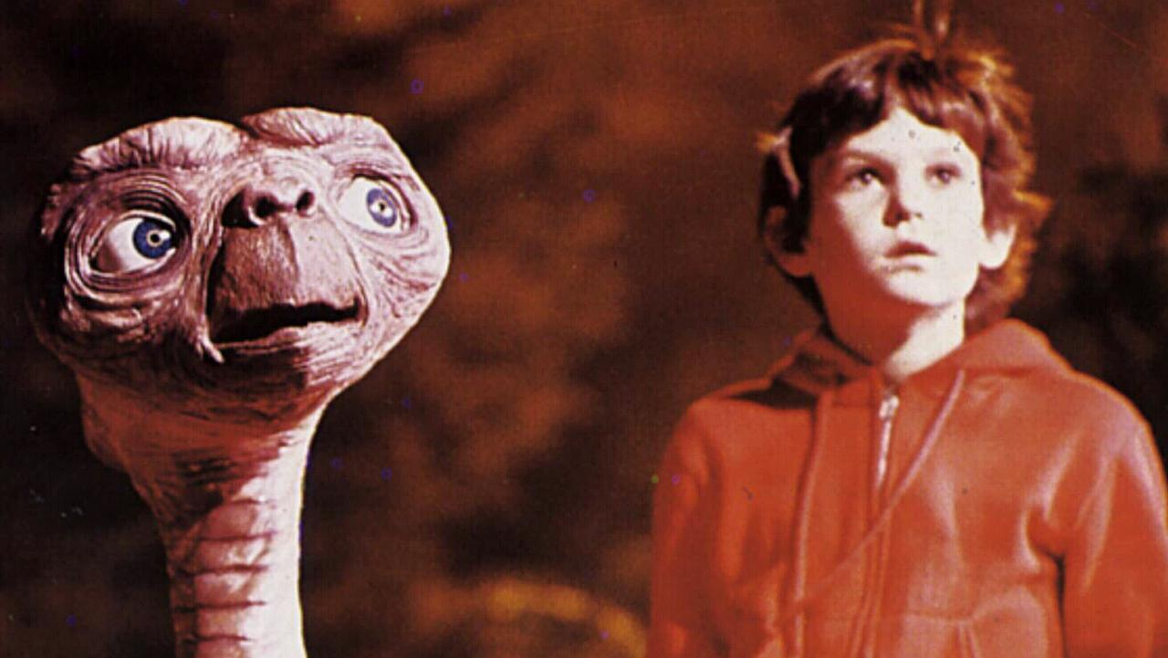 ET and child actor Henry Thomas in a scene from the film E.T. the Extra-Terrestrial. Picture: Supplied