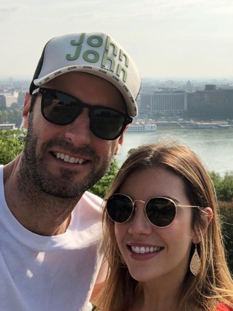Caroline and her partner Johan were overseas on holiday.