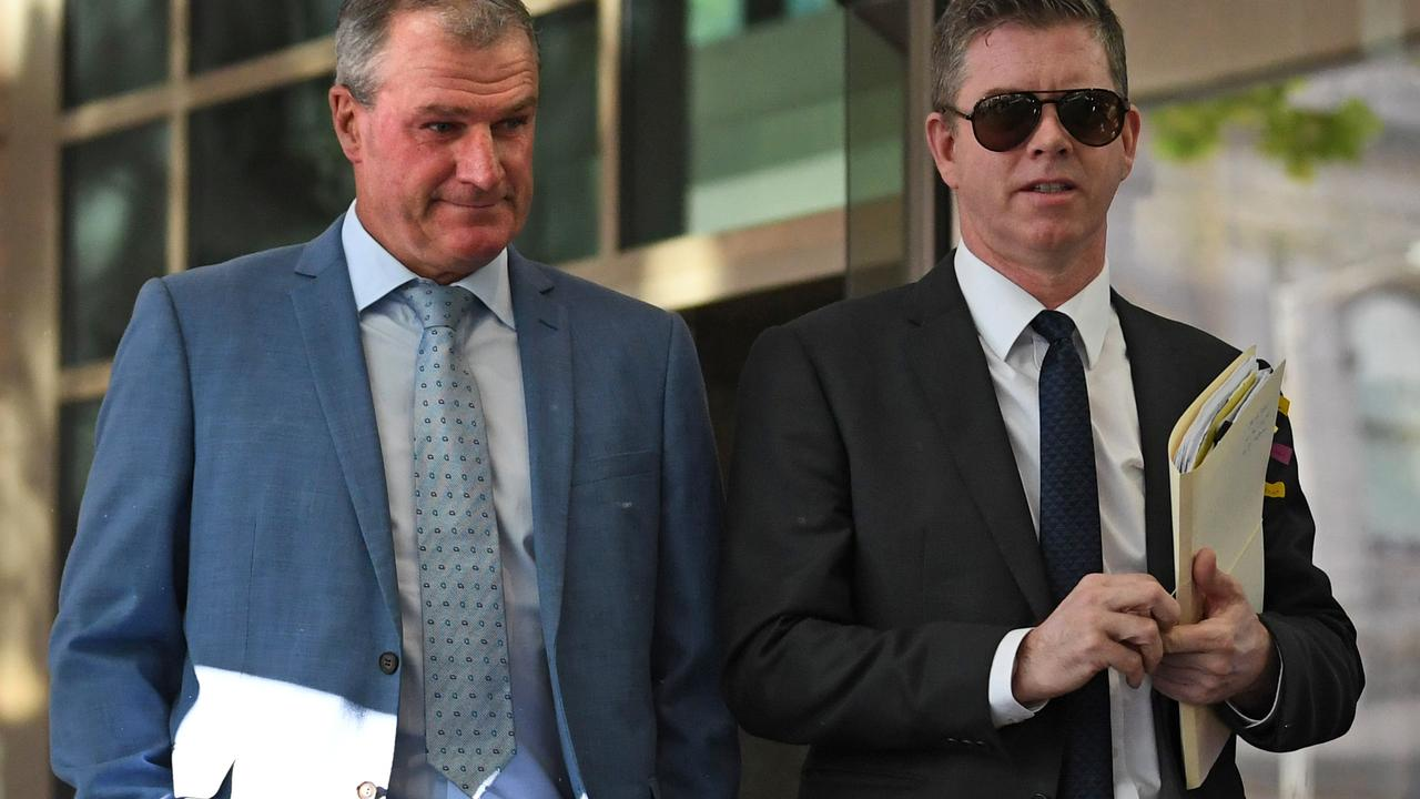 Trainer Darren Weir arrives at the Melbourne Magistrates' Court on Wednesday. Picture: AAP Image/Julian Smith