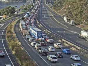 Massive delays after worker hit by ute