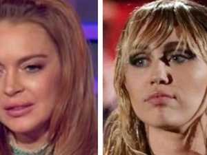 Lindsay's brutal public swipe at Miley