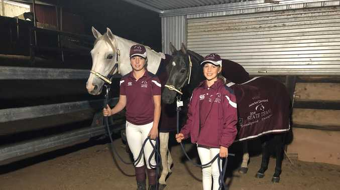 Equestrian sisters ride for gold in national event