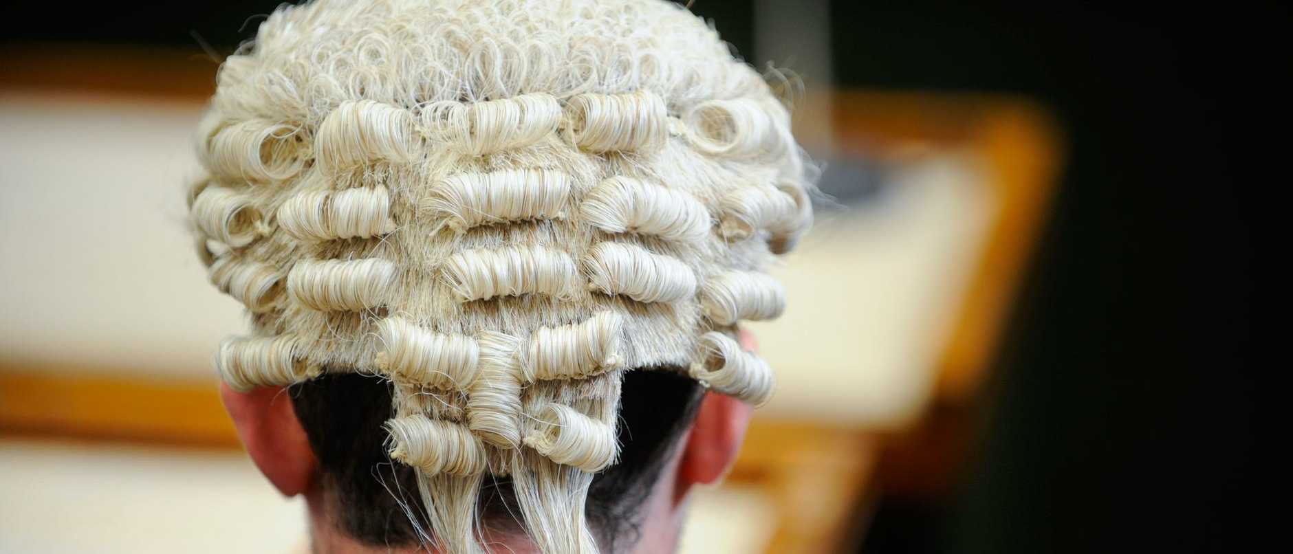 Generic Law court picture a member of the bar wearing barristers wig.. Image shot 2008. Exact date unknown.