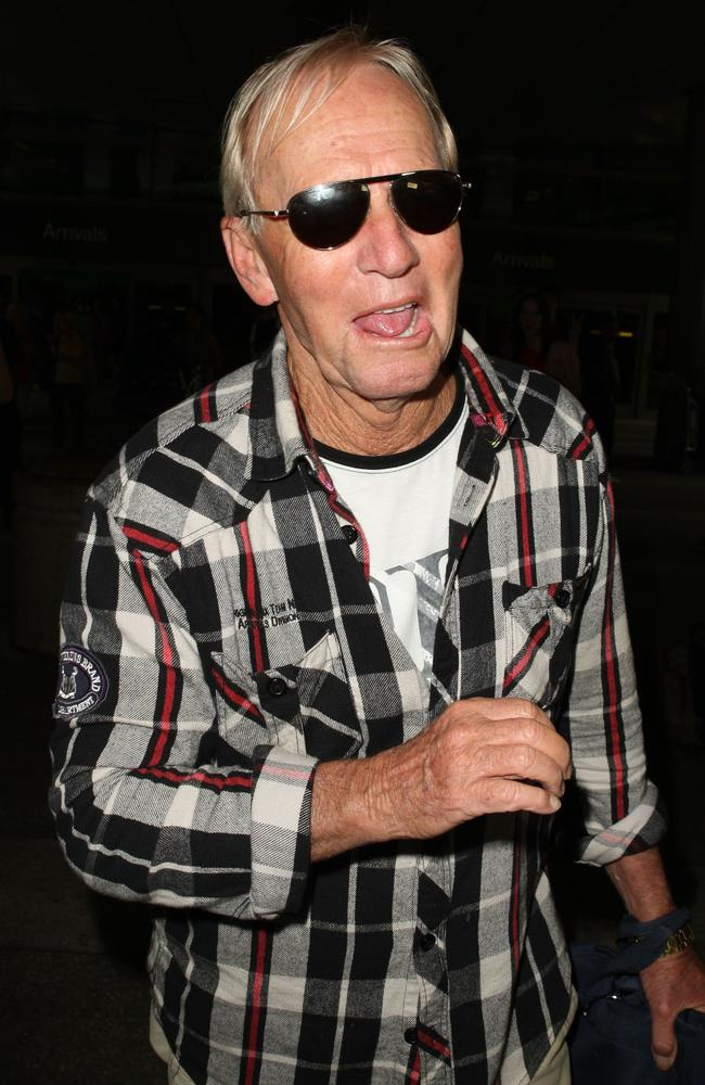 Hogan at Los Angeles International Airport after settling his bill with the ATO and returning home to the US. Picture: David Buchan
