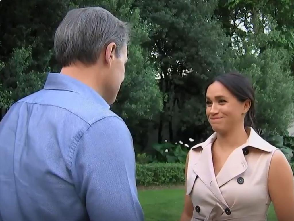 The Duchess of Sussex opened up about her struggles in the documentary Harry and Meghan: An African Journey. Picture: ITV