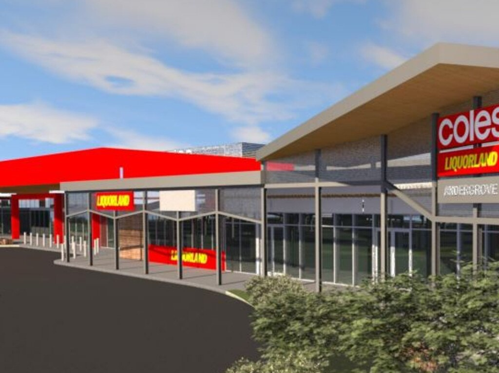 Coles Group development plans for a new shopping complex in Andergrove.
