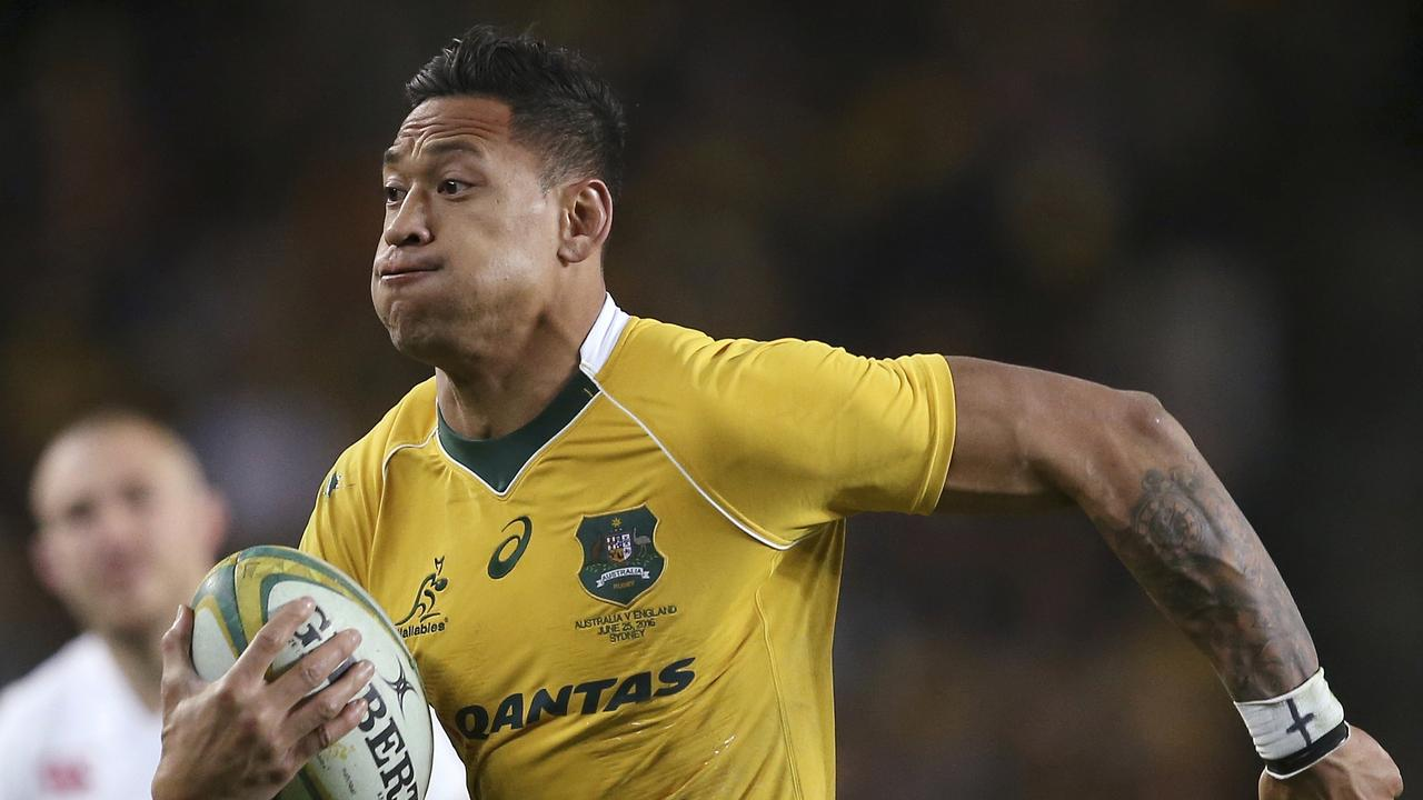 Israel Folau was sacked by Australian Rugby in May. Picture: Rick Rycroft