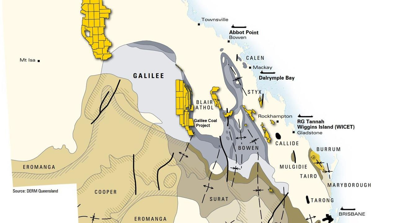 CQ BASINS: Clive Palmer's Galilee Coal Project is located 450km west of Rockhampton.