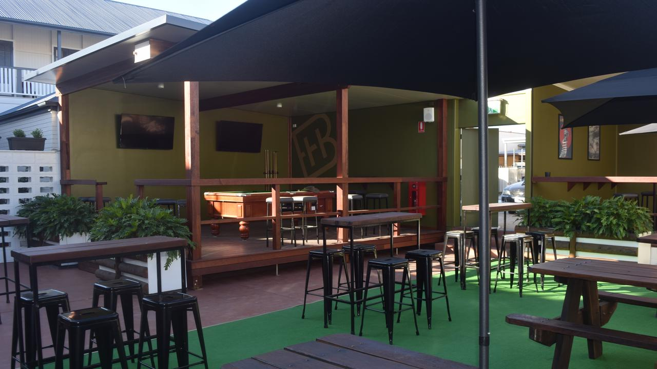GRAND OPENING: A sneak peek at the beautiful beer garden setting ahead of the Biloela Hotel's grand opening on Friday night.