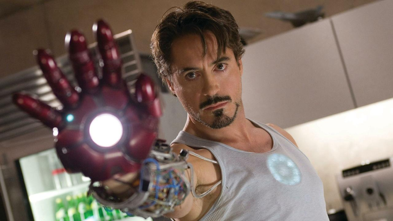 Robert Downey Jnr in Iron Man.