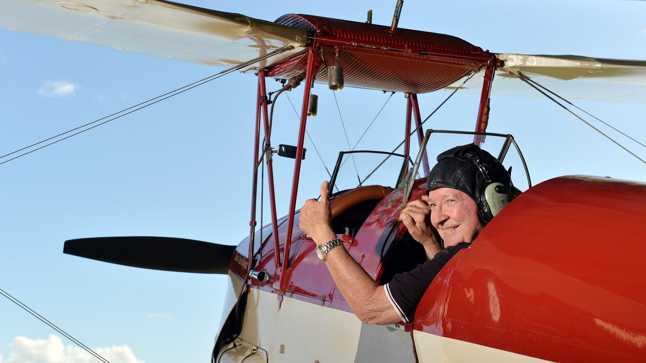 Tiger Moth Pilot Max Clews at Mackay Airport based in South Mackay