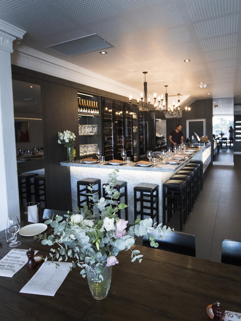 Inside the original Hellenika restaurant.