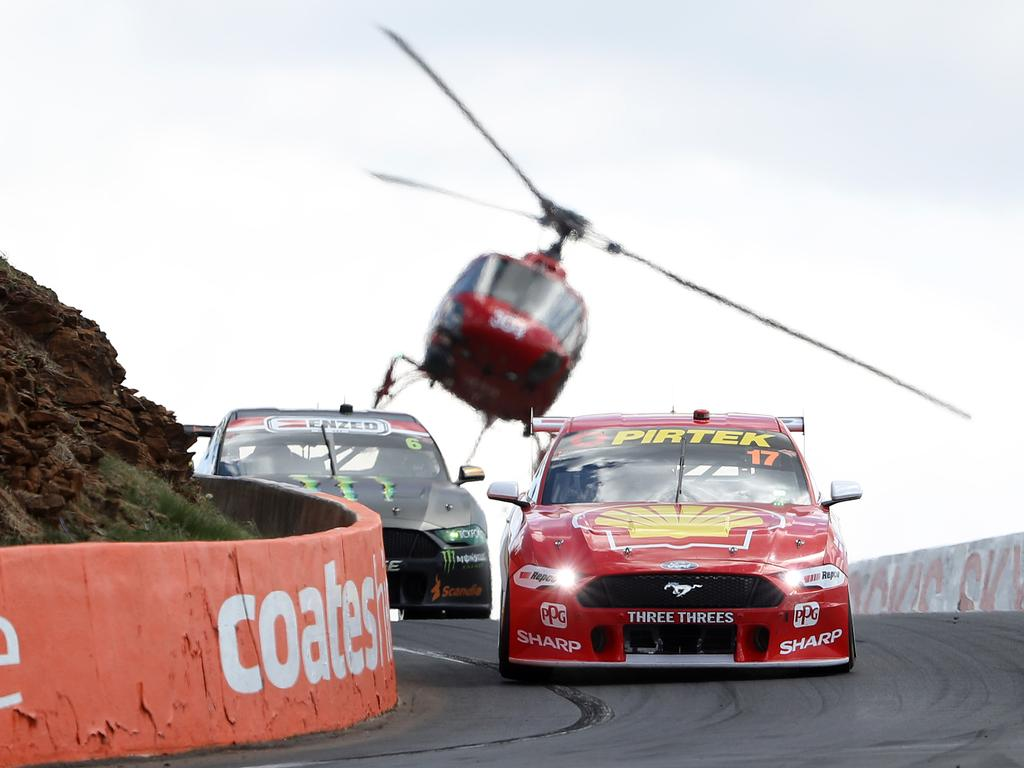 McLaughlin claimed his maiden Bathurst title. Picture: Robert Cianflone/Getty