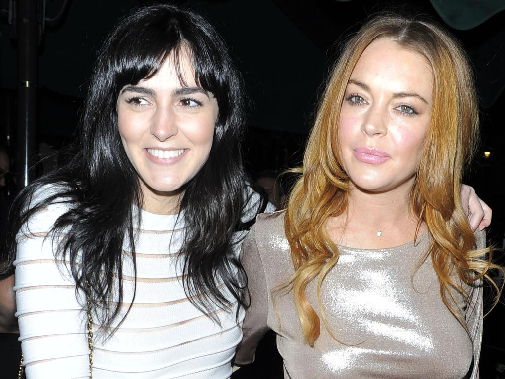 Ali and Lindsay Lohan in 2014. Picture: Supplied