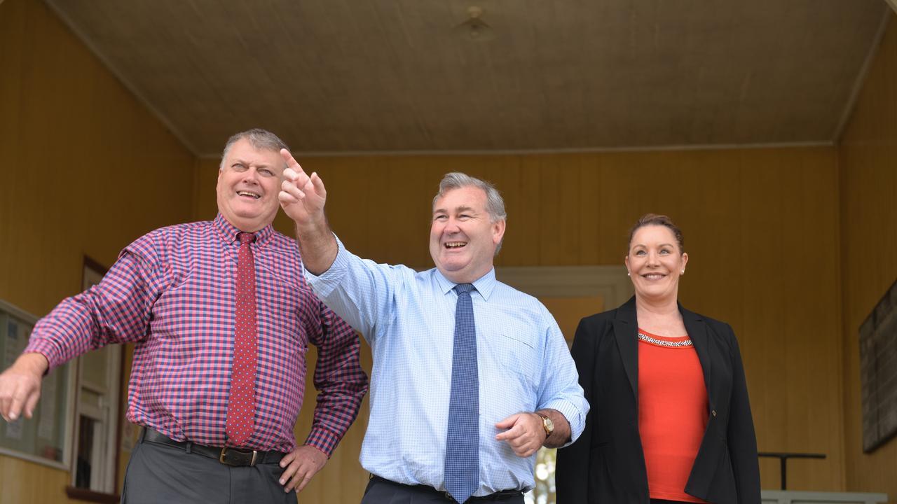 Cr Wayne Honor, Bundaberg Mayor Jack Dempsey and Cr Helen Blackburn.