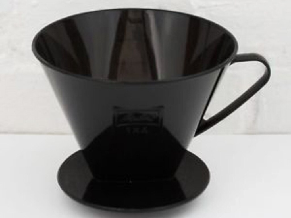 The Melitta Bentz Pour-Over coffee filtration device costs $15.