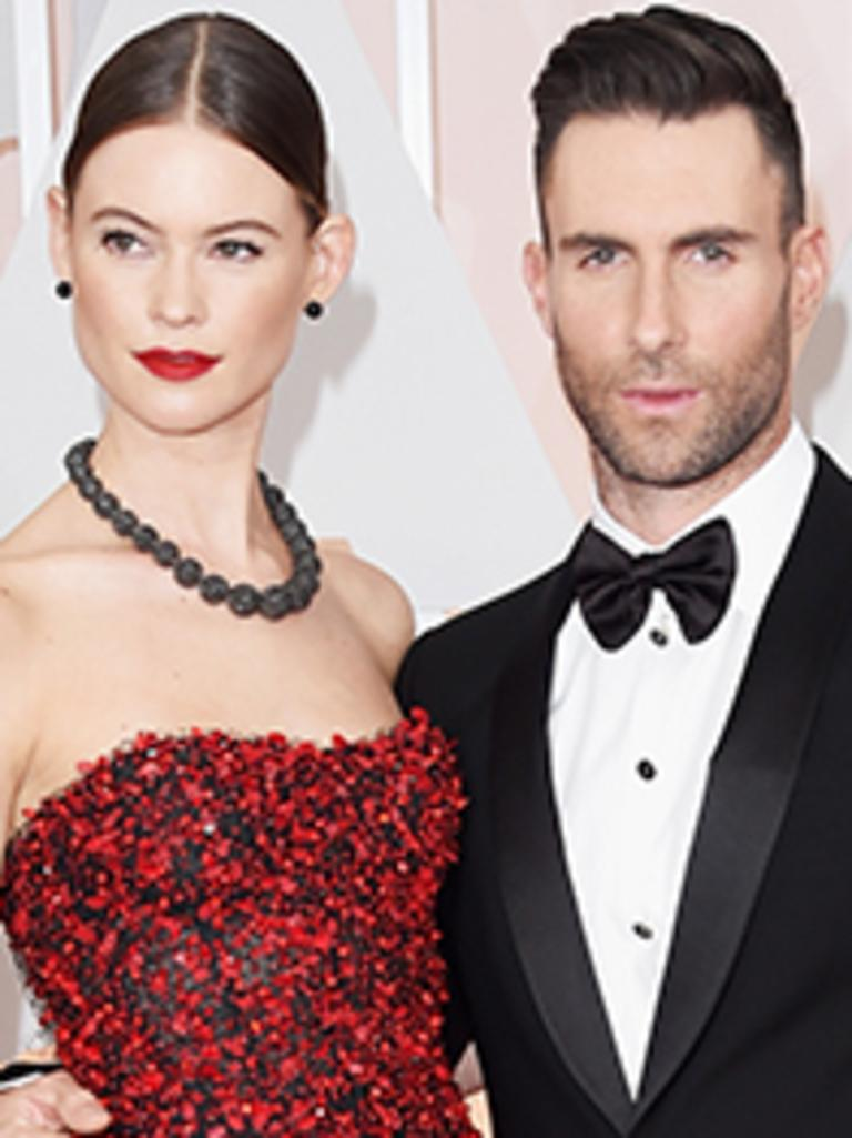 Behati Prinsloo and Adam Levine's $45 million-dollar home is under threat. Picture: Getty Images