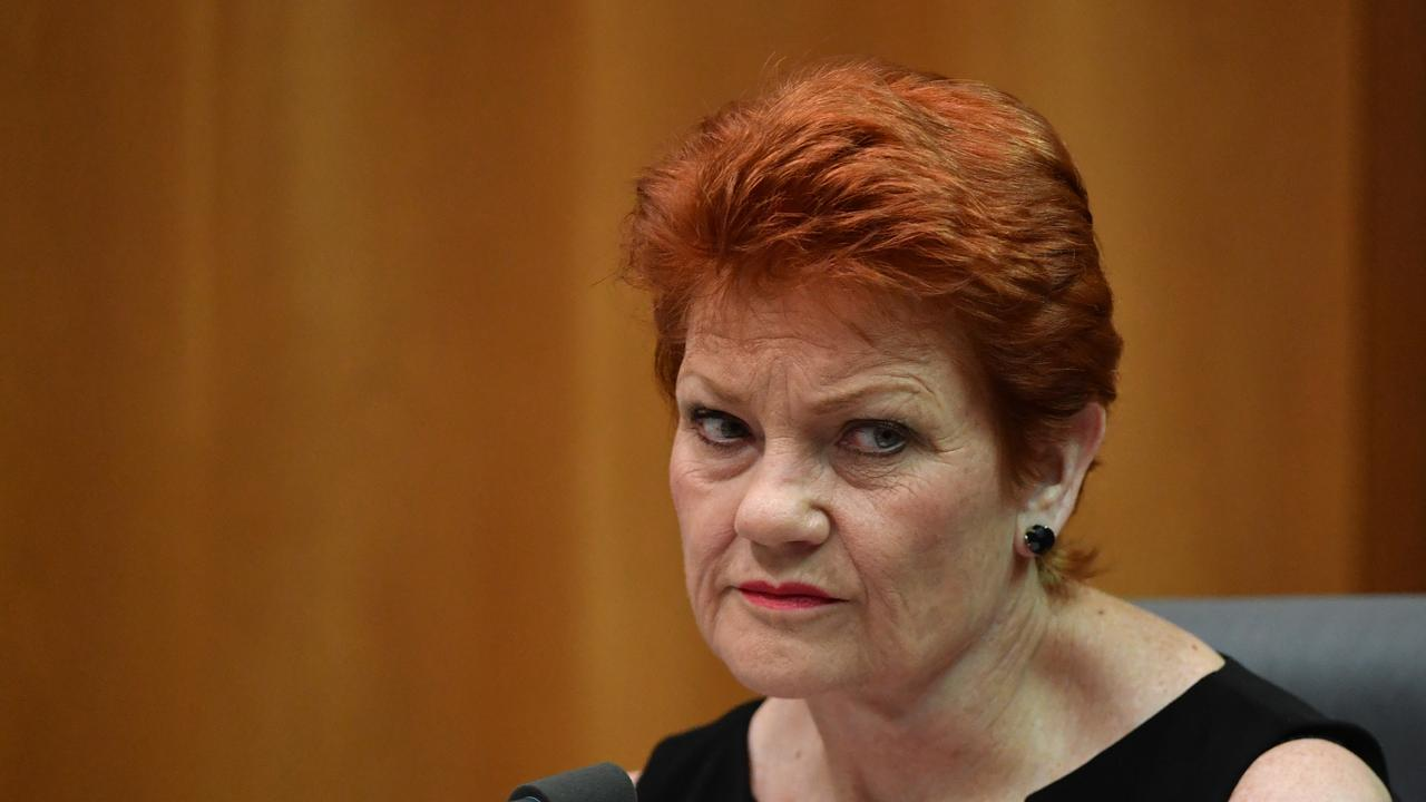 One Nation leader Senator Pauline Hanson at a Senate Estimates hearing at Parliament House in Canberra, Wednesday, October 23, 2019. (AAP Image/Mick Tsikas)