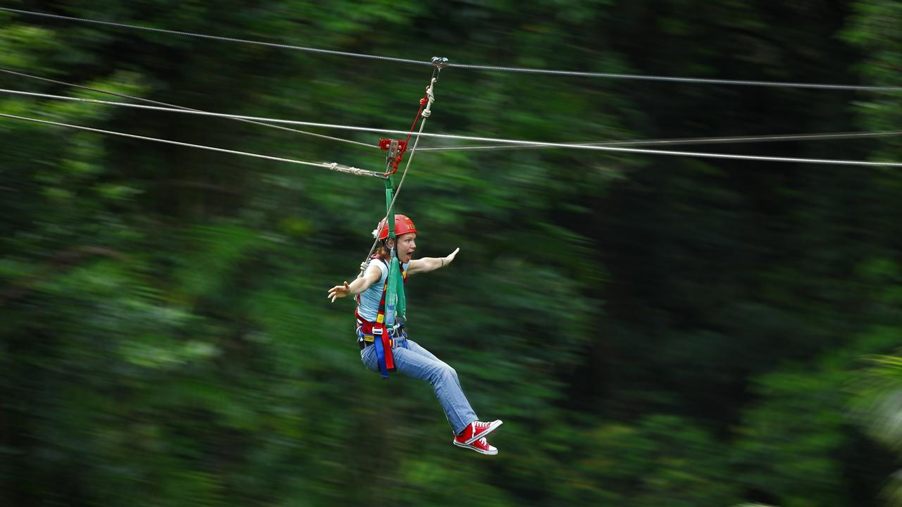 Jungle Surfing Canopy Tours offers unique zip line tours of the Daintree. PHOTO: Supplied