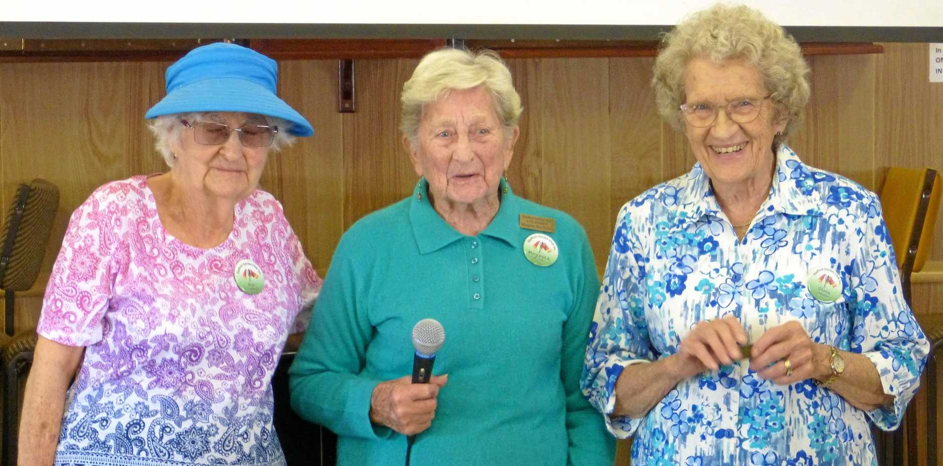 EXCLUSIVE CLUB: Sue Colquhoun, Margaret Anne Wilson and Gloria Gledhill are all Life Members of the Stafford Garden Club.