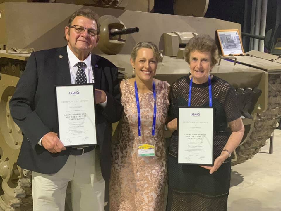 COMMITMENT TO COUNCIL: Cr Paul Lobegeier, Mayor Rachel Chambers, and Cr Faye Whelan at the LGAQ Annual Conference. Picture: Facebook