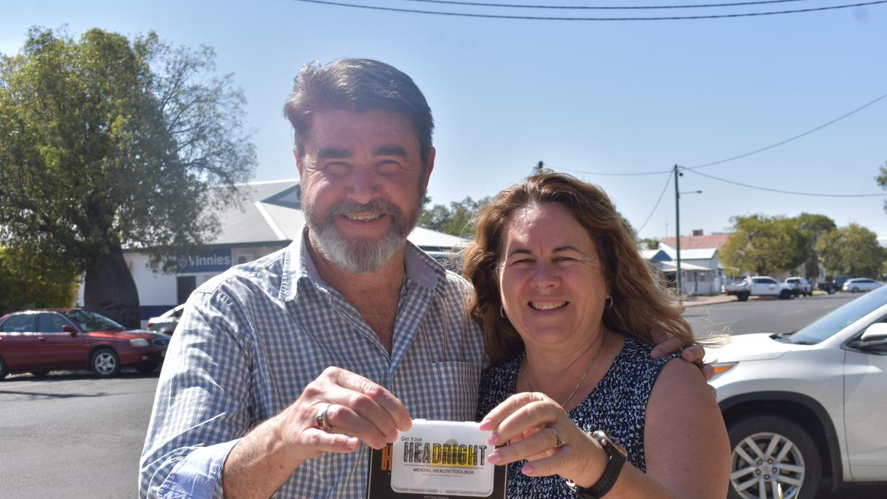 Greg and Vicki Gardiner with the Get Your HEADRIGHT USB.