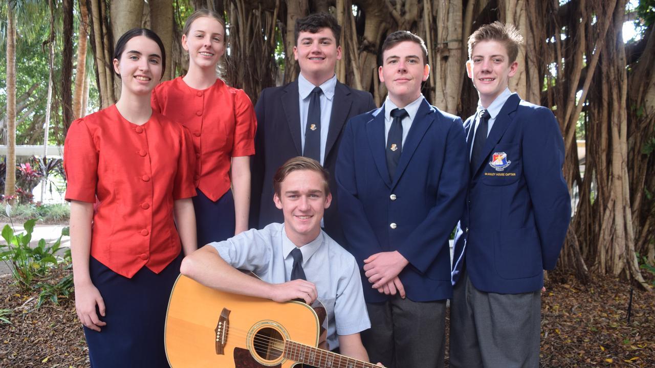 St Patrick's College school choir members Abbey Deguara, Jean Sanderson, Riley Bampton, Matthew Galea, Max Kingsbury and Kaldon Kaddatz.