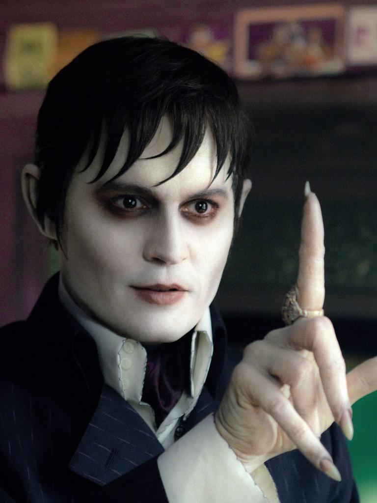 Johnny Depp portrays Barnabas Collins in Dark Shadows.