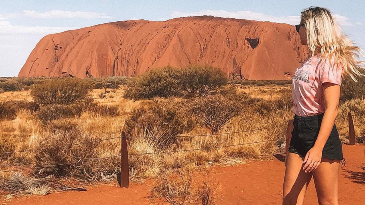 Tegan McLellan made the trip to Uluru after hearing of the upcoming climbing ban.