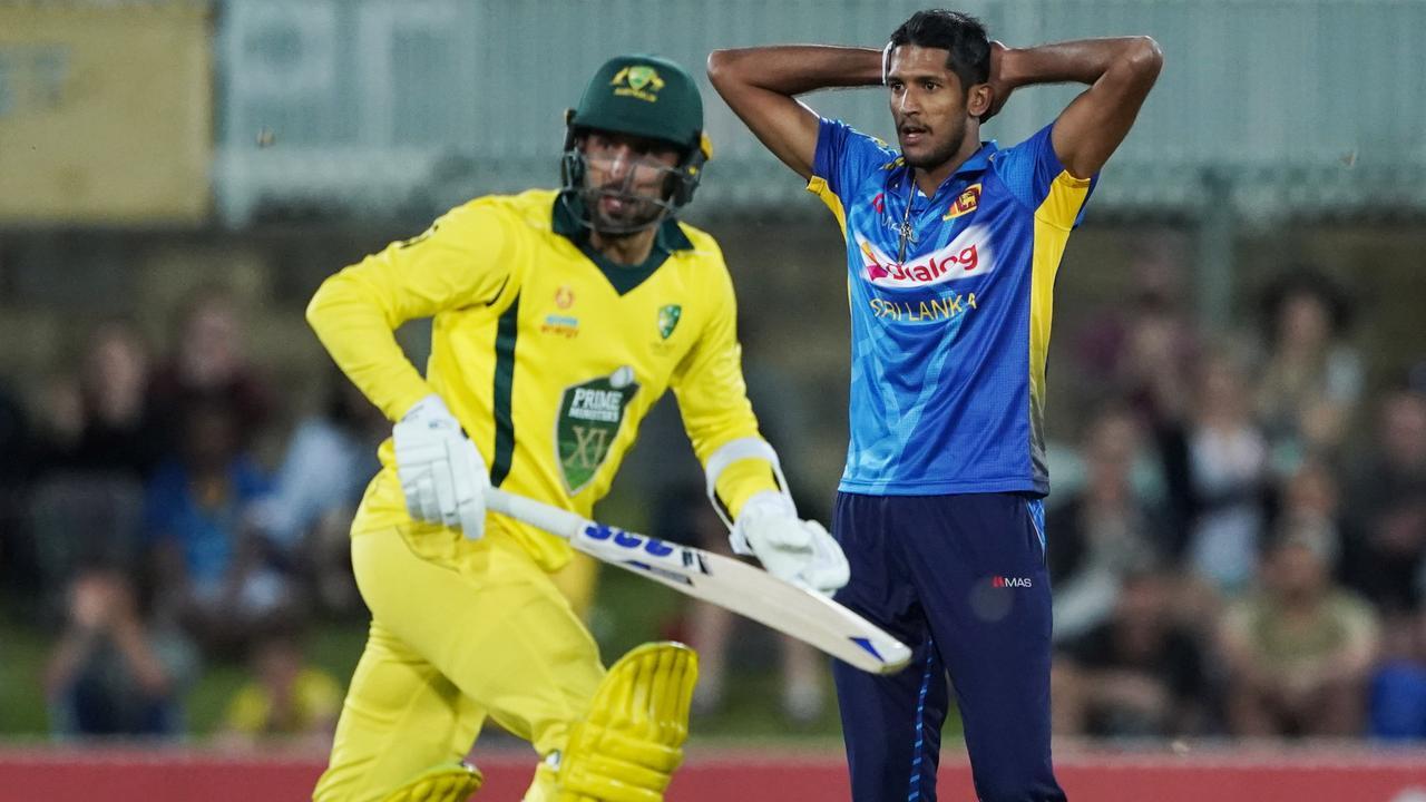 Kasun Rajita's final ball handed Australia victory. Picture: AAP/Michael Dodge