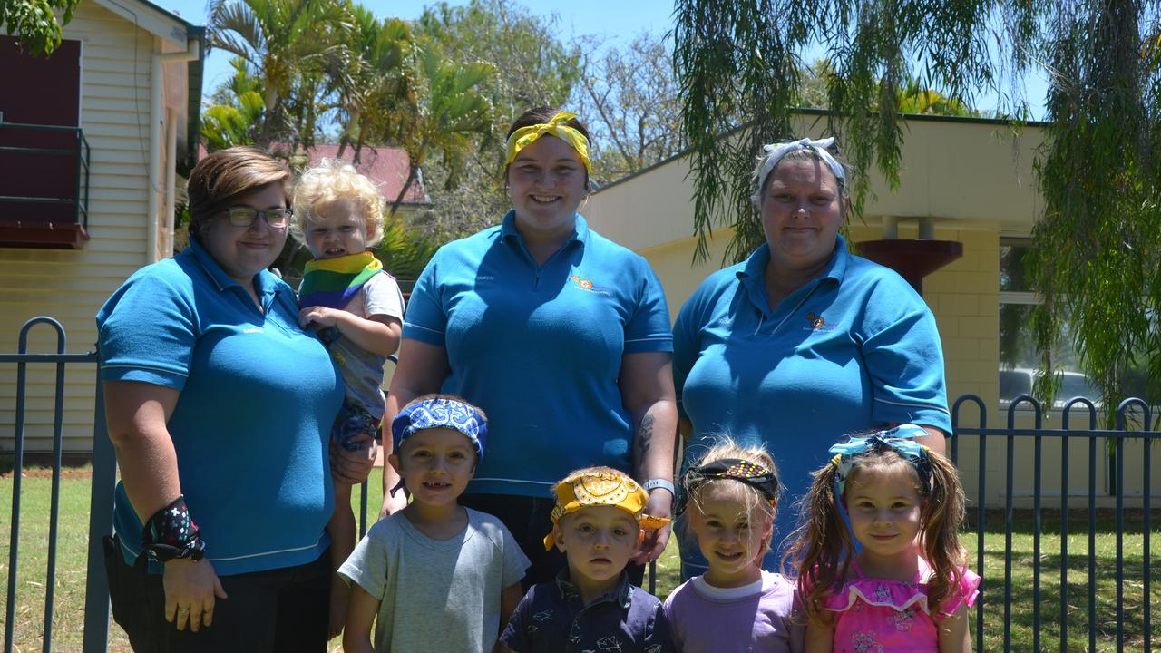 COLOURS FOR A CAUSE: The Gayndah Early Learning Centre joining in on the fun for Bandana Day.