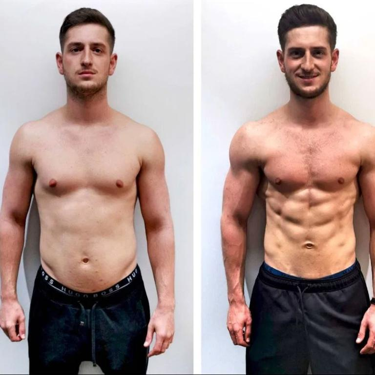 Ben got seriously ripped in just nine weeks.