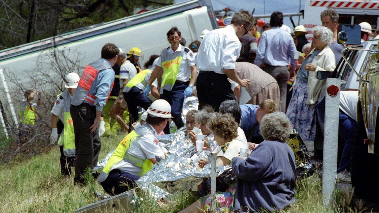 On this day in 1994, 12 people died and 39 were injured when a Wide Bay Tour coach crashed in Brisbane.