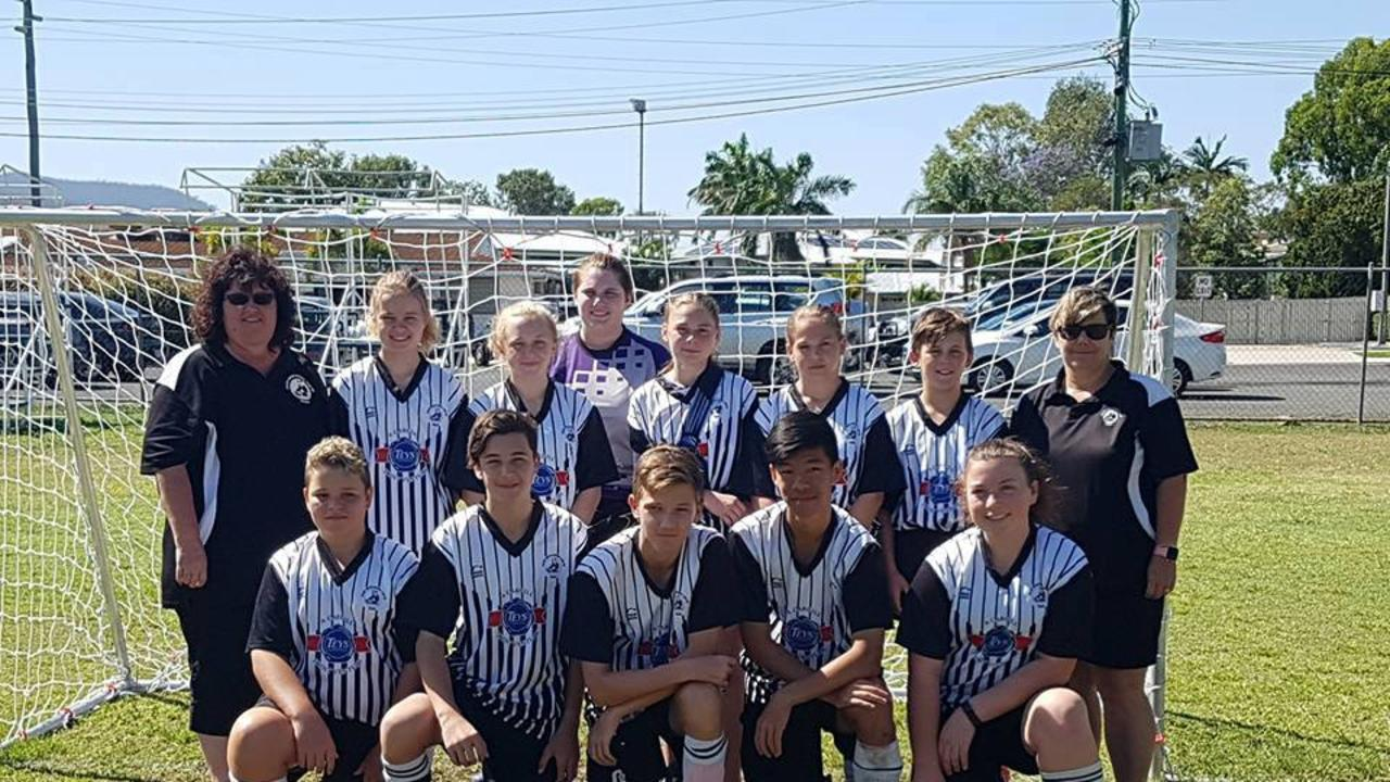 FRIENDLY RIVALS: The U15 squads of Callide United and Biloela Valleys played their hearts out in Rockhampton at the David Richards carnival.