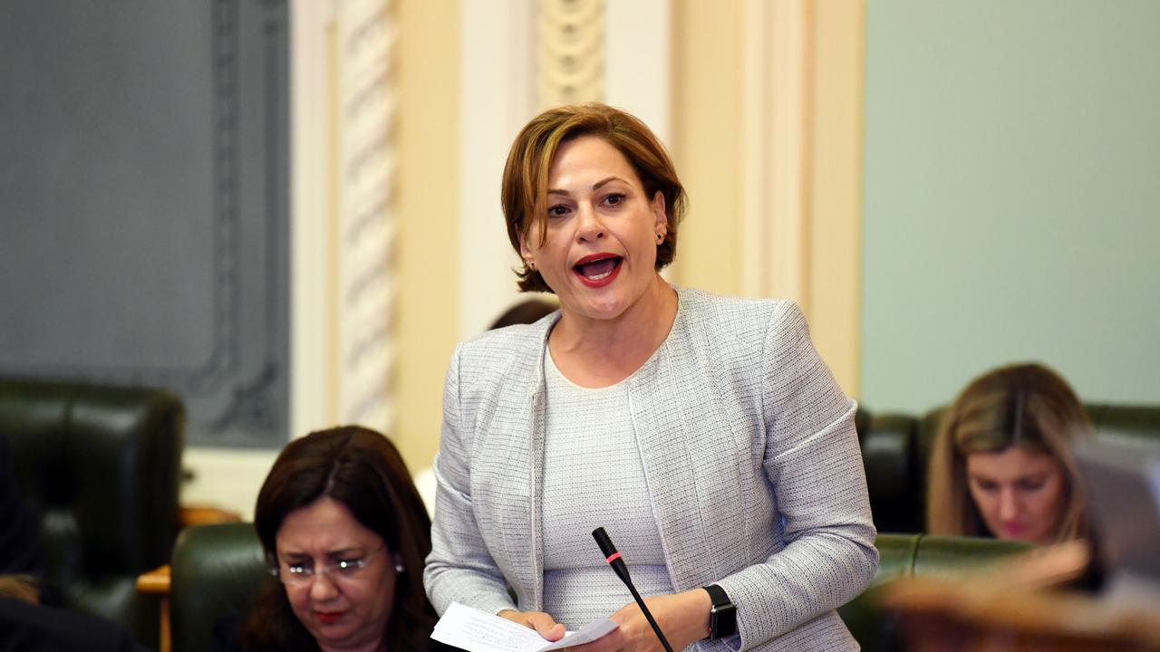 Queensland Deputy Premier Jackie Trad speaks in parliament this week.