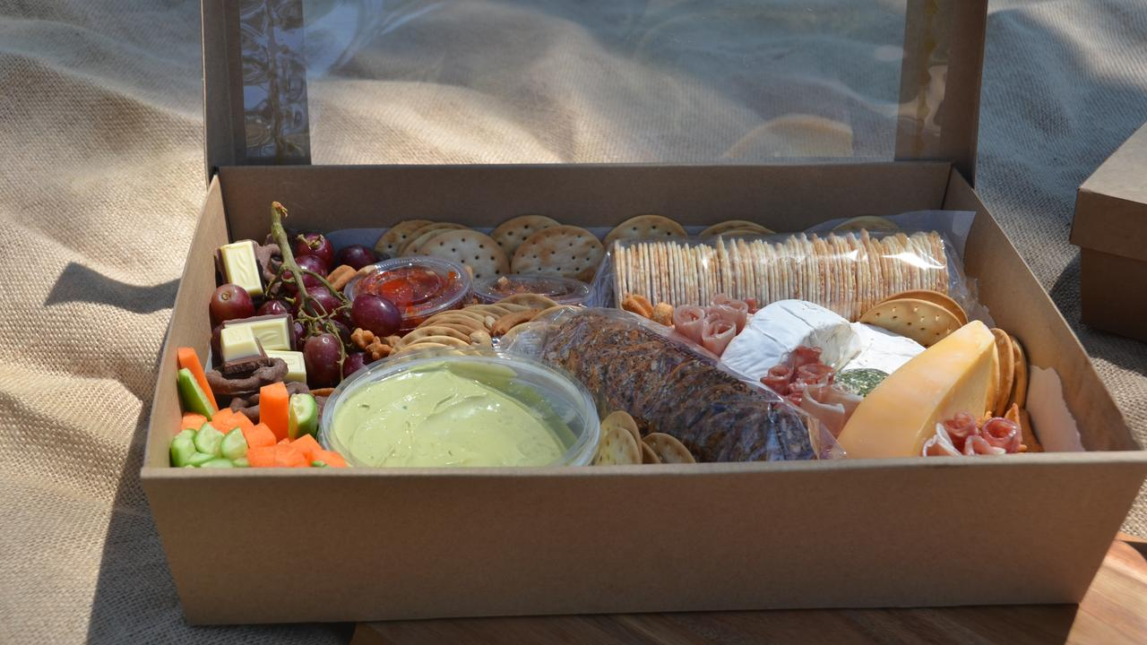 VARIETY: 'Divine Grazing' boxes range from cheese and cracker selections to dessert boxes, picnic packages or party boxes. (Photo: Jessica McGrath)