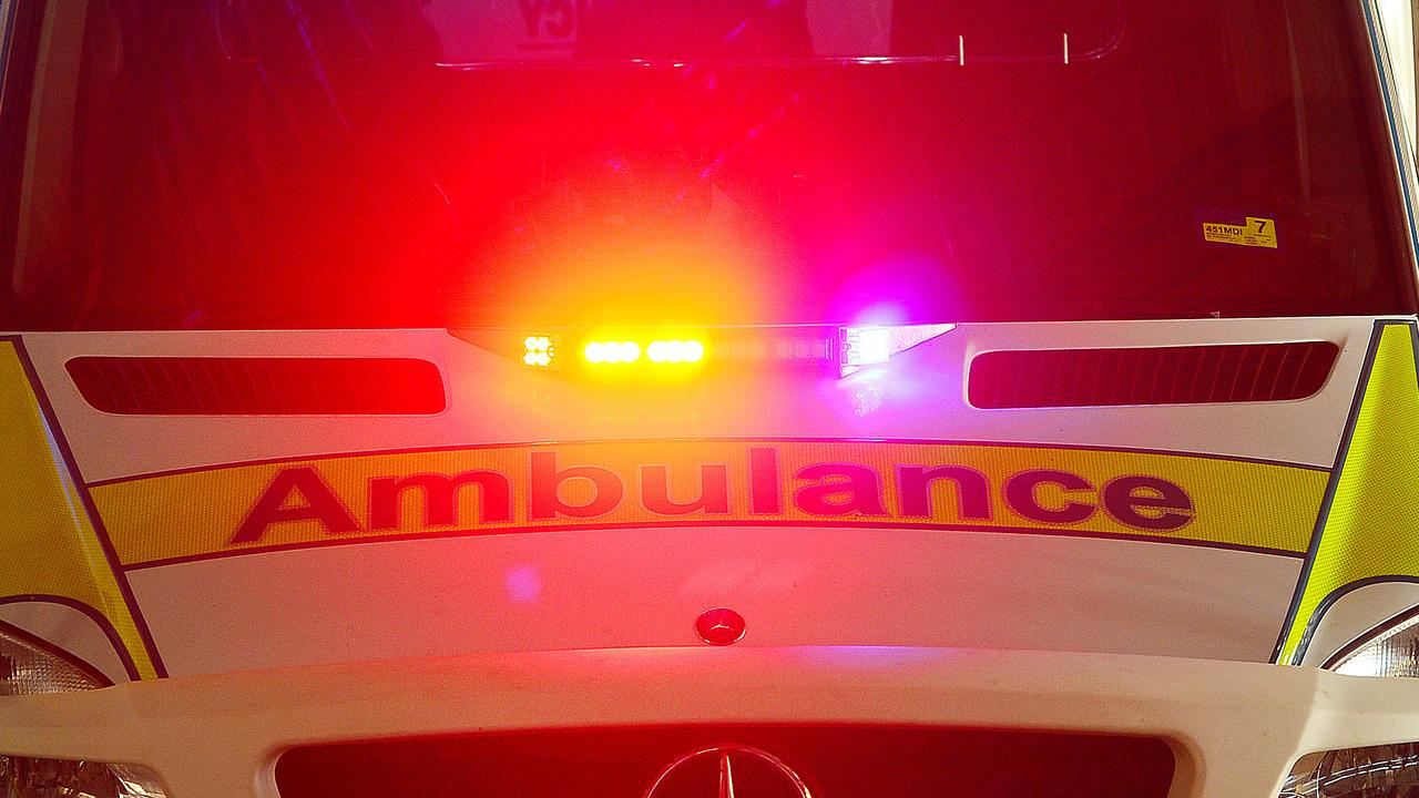 A man has sustained life-threatening injuries after a single-vehicle crash into a tree.
