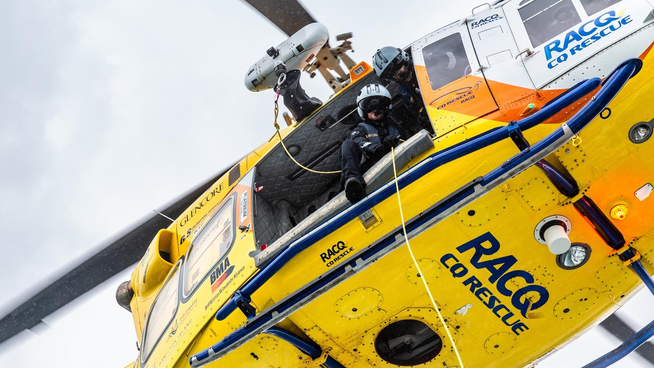 The RACQ CQ Rescue chopper was sent to three missions on Wednesday.