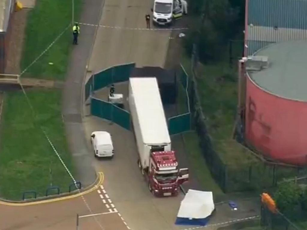 39 bodies found in a lorry container in Essex -pic Sky news