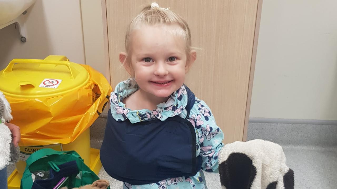 Dakota Clem's trip to Gympie Hospital was a lot happier thanks to the man taking her X-ray.