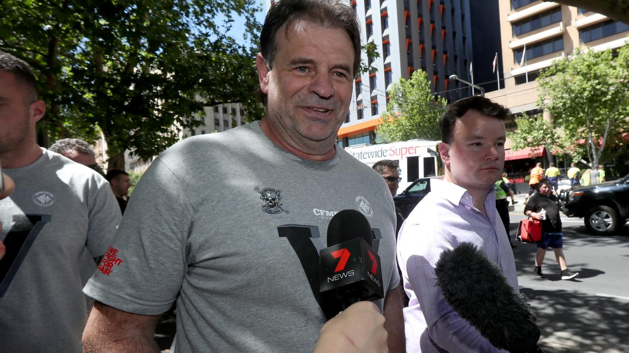 John Setka, centre, was punted from the Labor Party after a series of scandals. Picture: AAP