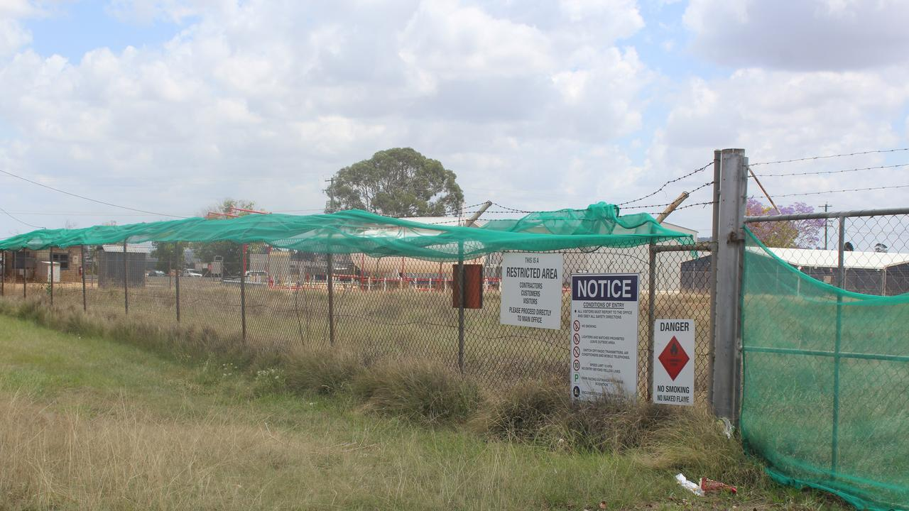 The former Kingaroy Caltex Depot site where levels of PFAS were identified.