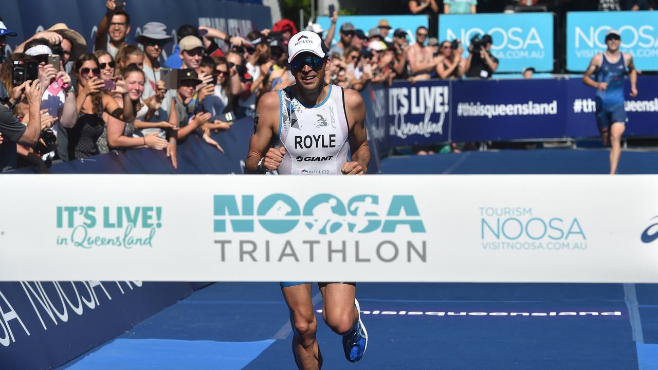 Action from the Noosa Triathlon 2018 where Aaron Royle won the mens race.