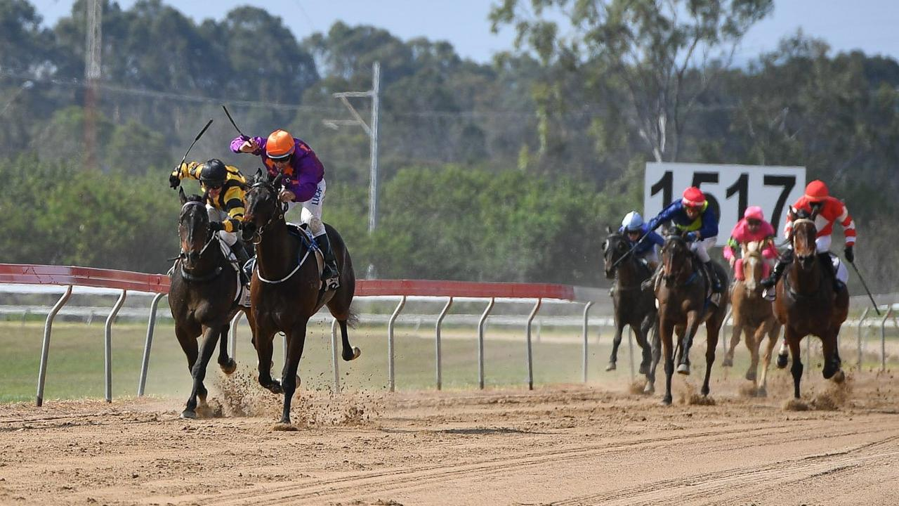 Horses compete at last year's Cox Plate races.
