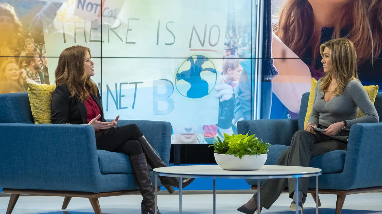 Reese Witherspoon and Jennifer Aniston in Apple's upcoming show, Morning Wars.