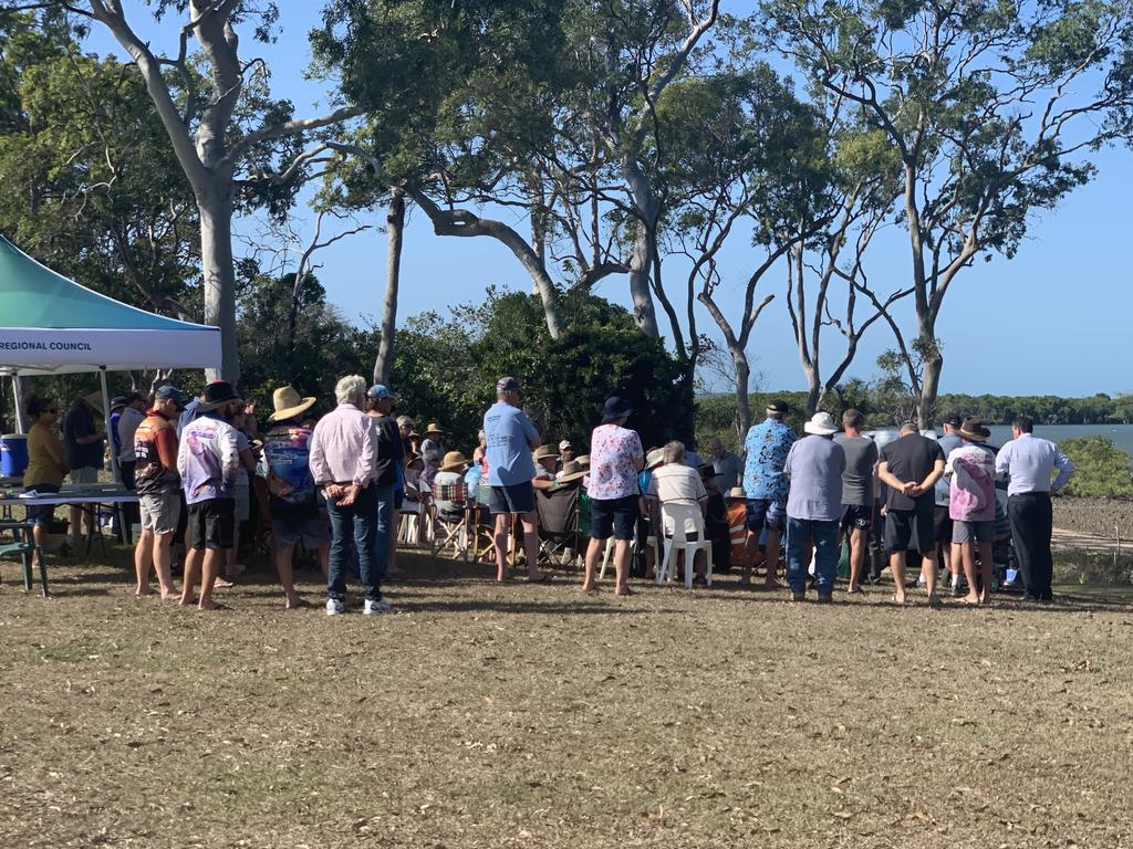 The huge turnout at the St Helens Beach community consultation day, where Mackay Regional Council presented its draft local coastal plan to the community.