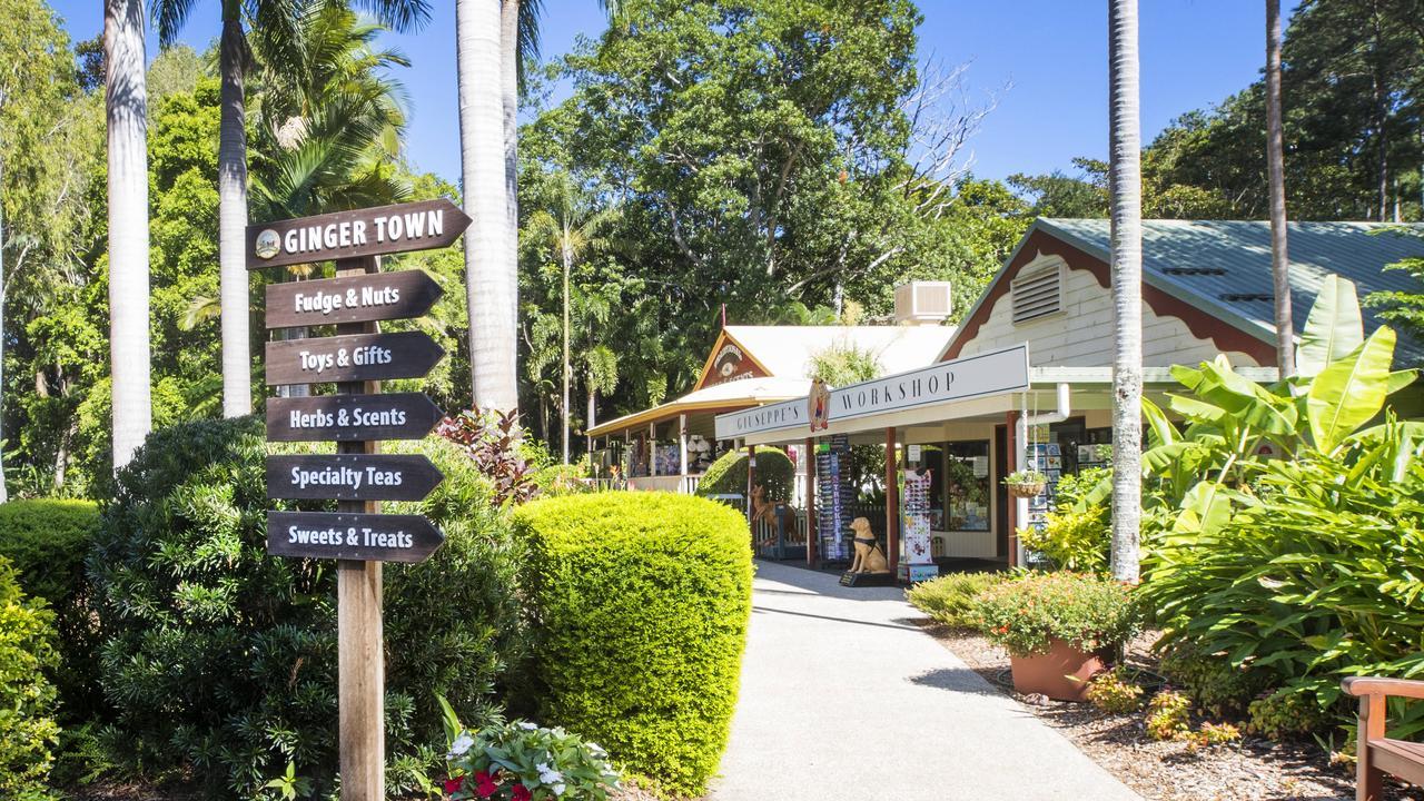 Garden walkway at The Ginger Factory at Yandina. Photo: Lachie Millard