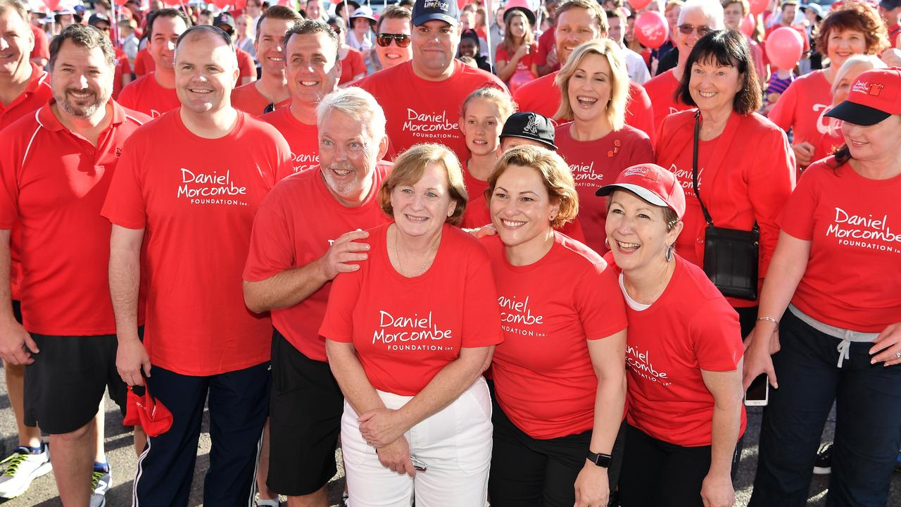 TOGETHER: The 15th annual Walk for Daniel on the Sunshine Coast. Denise and Bruce Morcombe (centre). Photo: Patrick Woods