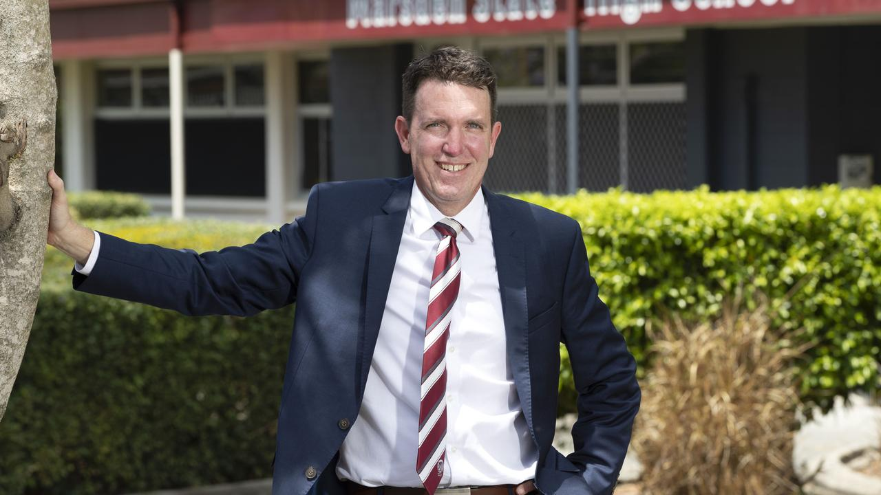 Marsden State High School principal Andrew Peach won the Excellent Leadership in Teaching and Learning Award. Picture: Nigel Hallett