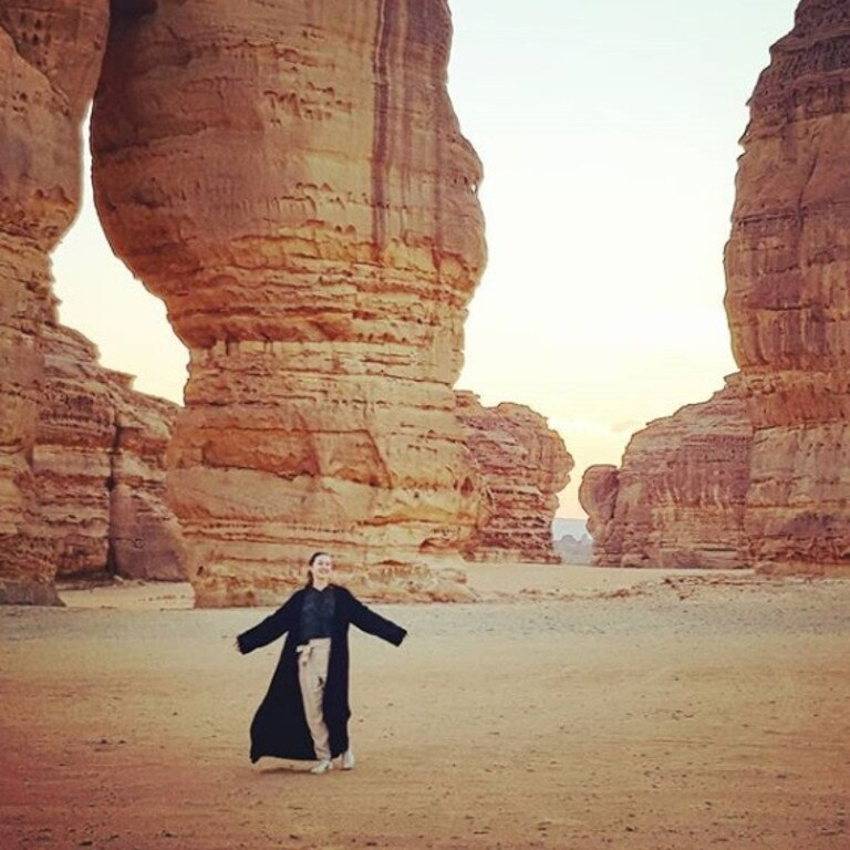 Saudi Arabia is full of surprises. Picture: Instagram/@alexismariecarey